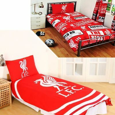 OFFICIAL Liverpool FC FOOTBALL Duvet Bedding Quilt KOP BED SET Single Reversible