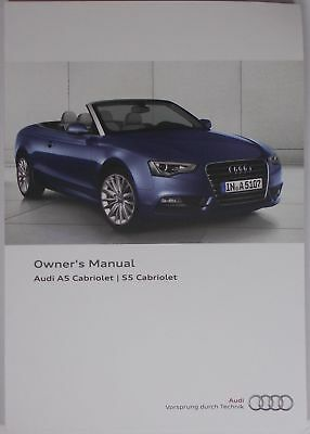 new genuine audi a5 s5 cabriolet owners manual handbook 11 2014 rh picclick co uk 2011 audi s5 owners manual 2015 audi s5 owners manual