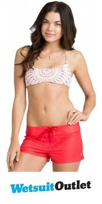 """Billabong Ladies Sol Searcher 5"""" Board Shorts in RED HOT W3BS05"""