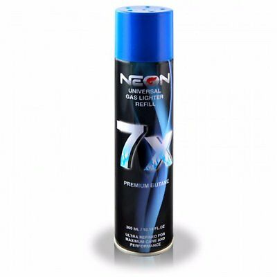 1 CAN IGNITUS NEON BUTANE GAS 300ml 7X REFINED FILTERED LIGHTER REFILL FUEL