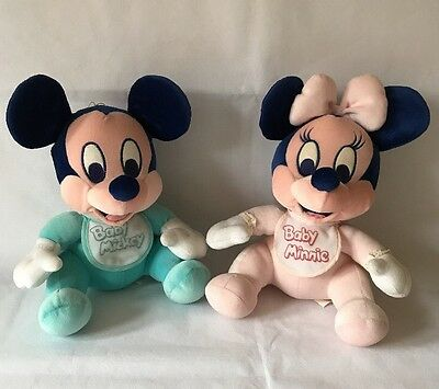 Disney Babies, Baby Minnie Mouse Boy & Minnie Mouse Baby Girl Plush Soft Toy's