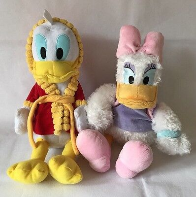"Disney Junior Donald Duck & Disney Parks Daisy Duck Plush Soft Toy, 14"" & 16"""