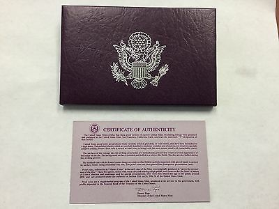 1991 Clad Proof Set with box and paper