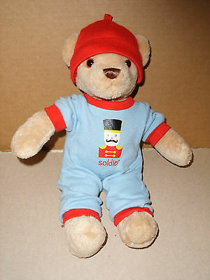 2011 Fao Toys R Us Stuffed Plush Teddy Bear With Soldier Outfit Red Hat 12 In
