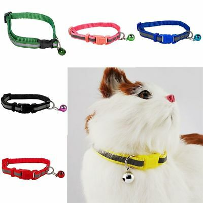 Puppy Dog Kitten Cat Breakaway Collar & Tag Reflective Safety Quick Release&Bell