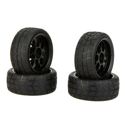 4pcs High Performance 1/10 Rally Car Rim Wheels and Tires 20101 for Traxxas I2H9