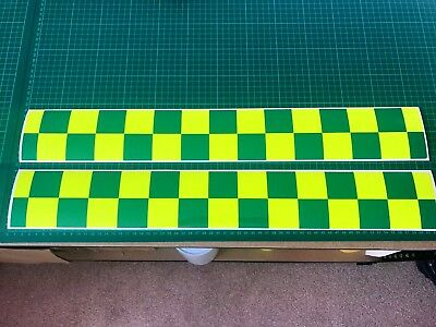 MAGNETIC Battenberg Battenburg MAGNET Yellow Green Ambulance Paramedic 620mm x 2