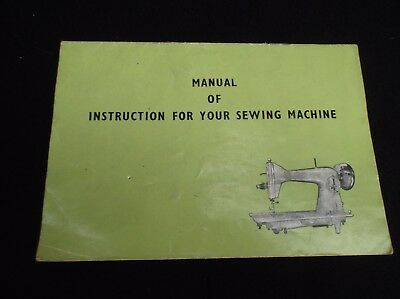 Vintage Jones Sewing Machine Instruction Book Manual
