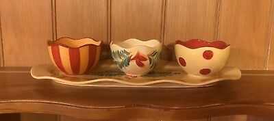Gail Pittman Southern Living Siena Tid Bit Serving Tray With 3 Bowls