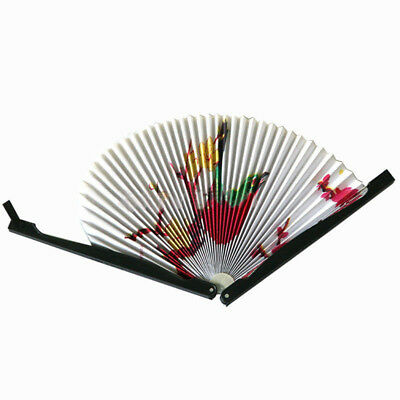 2PCS Paper Folding Chinese Oriental Floral Hand Fans Wedding Favours Table R7Z6