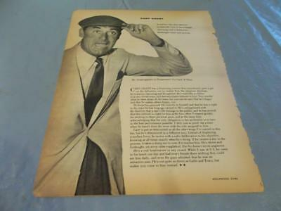 Cary Grant  vintage  clipping  #131