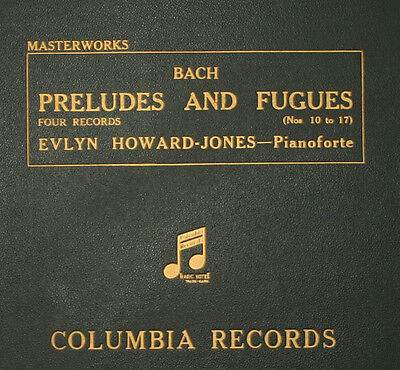 EVLYN HOWARD-JONES -PIANO- Bach: Preludes and Fuges No. 10 to 17   78rpm   A278