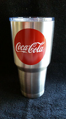 New Coca Cola 30oz Double Walled Stainless Steel Tumbler Travel Mug Coke