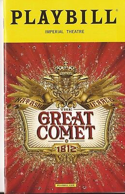 Natasha, Pierre and the Great Comet of 1812 playbill *with original cast!*