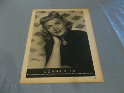 Donna Reed  pinup clipping  #131