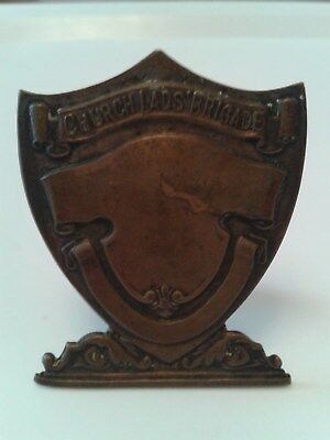 Church Lads' Brigade Shield With Stand - Vintage