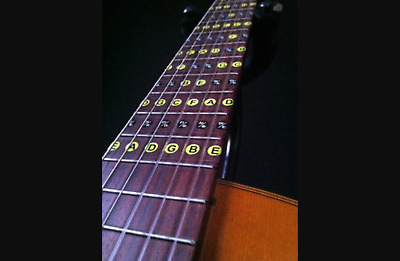 Guitar Fret Stickers Learn your Scales & Notes Acoustic Electric Decal Fretboard