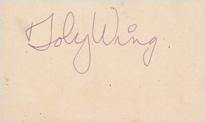 Toby Wing - Signature(S)
