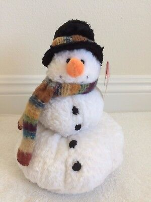 """""""SNOWBALL"""" The Plush Snowman Made by Russ 10"""" Tall w/Tags Attached! Soft! NEW!"""