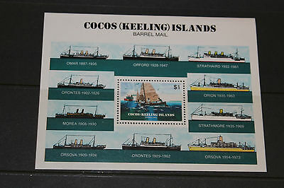 Cocos Keeling Island 1984 Barrel Mail  Minature Sheet   Fine M/n/h Cond