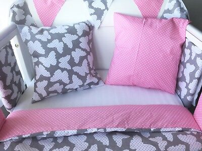 Handmade Cushion Cover Pink Polka Dot 💗
