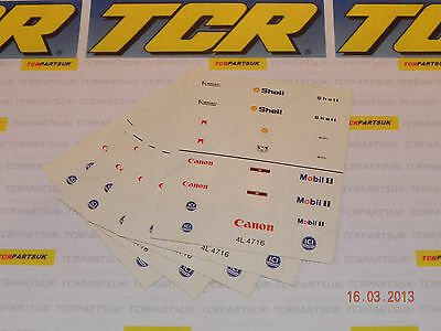 5 Sheets of TCR Stickers for F1 Cars - Also fit Tyco, AFX and all other HO car
