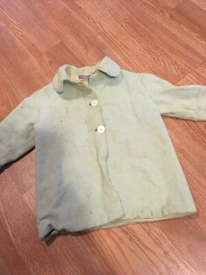 Vintage 1930's Kids Chinchella Beacon Play Coat Jacket Glass Buttons