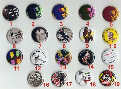 Adam and the ants adam ant pre owned new wave punk any 4  Badges