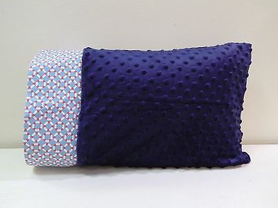 NWT Life saver blue Minky Toddler Pillowcase 12 x 16 lifesaver preserver ocean