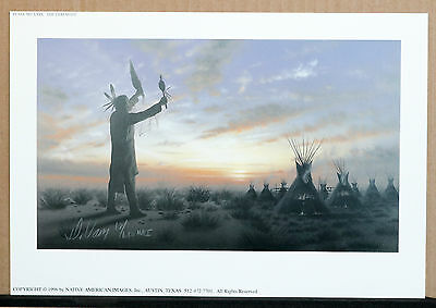 "'the Ceremony"" S/n Art Print-Donald Vann-Native American Cherokee"