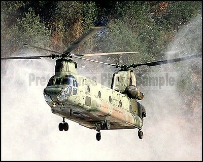 US Army CH-47 Chinook Helicopter South Korea 1982 8x10 Photo