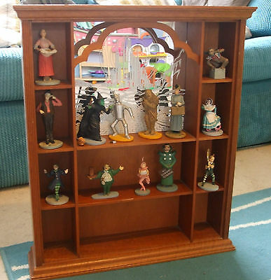 1988 Turner Entertainment Wizard Of Oz Figures & Display Cabinet Franklin Mint