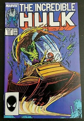 INCREDIBLE HULK #331 (1987 MARVEL) *1st PETER DAVID WORK ON HULK* NM-