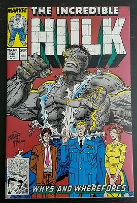 Incredible Hulk #346 (1988 Marvel) *leader & Nick Fury App.* Nm-