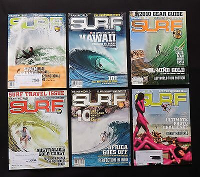 Transworld Surf Magazine 2010 Used Lot Of 6 Issues Vol.12  Surfer Surfing