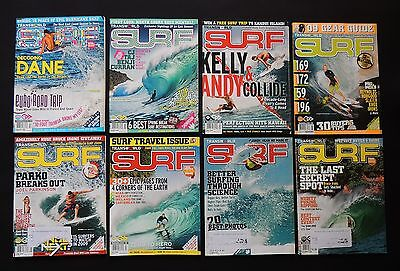 Transworld Surf Magazine 2009 Vol.11 Used Lot Of 8 Issues Surfer Surfing