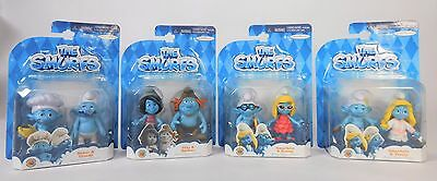 The Smurfs 2-Pack Lot of 4 Set Jakks Pacific 2013 Complete Set New in Package!