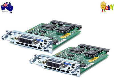 Lot of 2 Genuine Cisco WIC-1T 1-Port Serial WAN Cards 6mth Warranty, Tax Invoice