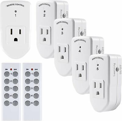 Century Wireless Remote Control Outlet Light Power Switch 2 Plug In 5 Pack House