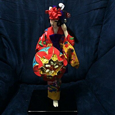 Vintage Japanese Doll Figurine Traditional Beautiful Collectibles Statue
