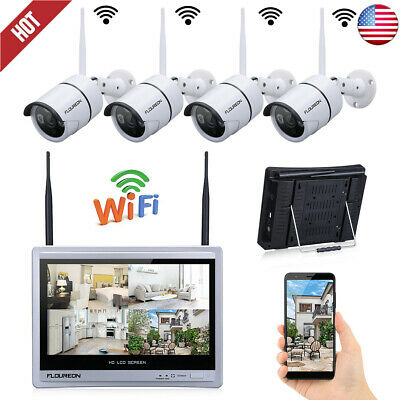 4CH HDMI 1080N DVR 720P 1500TVL In/Outdoor IR CCTV Security Camera System Night