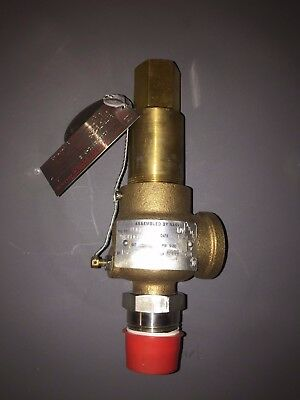 "NEW Kunkle 919BDEB01-BKE 1"" 220.5 PSIG 502 SCFM Safety Relief Valve ASME UV Cert"