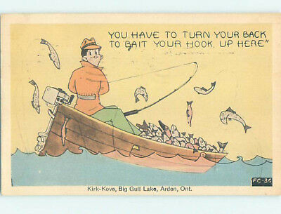 Pre-Chrome comic fishing SO MANY FISH YOU HAVE TO HIDE BAIT FROM THEM HJ2070