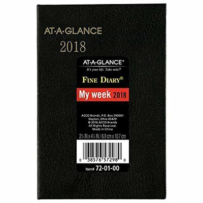 AT-A-GLANCE Weekly / Monthly Pocket Diary, Fine Diary, January 2018 - December