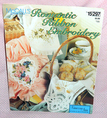 McCalls Creates Romantic Ribbon Embroidery Pattern Leaflet Hearts Flowers