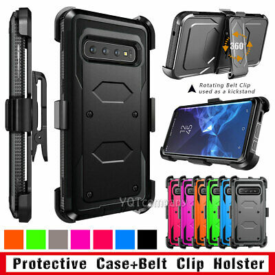 For Samsung Galaxy Note 9/8 / S8/ S9 Plus Defender Rugged Case Cover W/Belt Clip