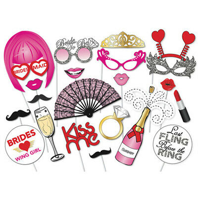 22Pcs Colorful Funny Paper Shooting Photo Prop Happy Mask For Wedding Decor