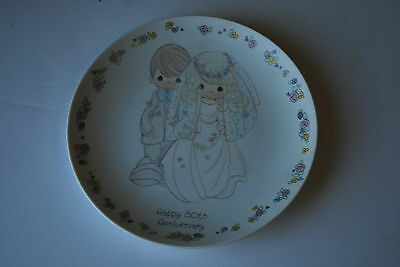 Precious Moments - 50th Anniversary Bisque Porcelain Mini Plate - 1988 Enesco