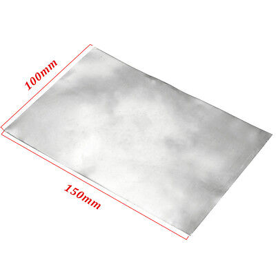 1/4/8x Zinc Zn Sheet Plate 150×100×0.3/100×100×0.5/500×100×0.2mm for Science lab