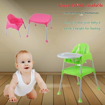 3in1 Baby High Chair Convertible Table Seat Booster Toddler Feeding Highchair HM